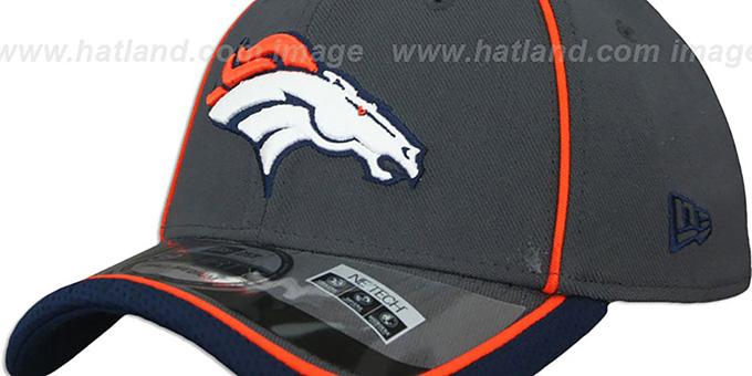 7618adcf1 ... Broncos  2014 NFL STADIUM FLEX  Grey Hat by New Era