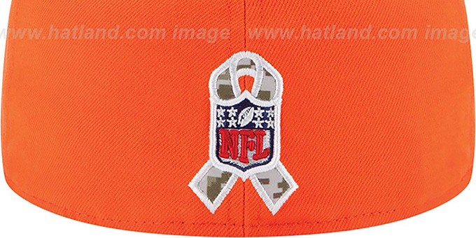 Broncos '2014 SALUTE-TO-SERVICE' Orange-Desert Fitted Hat by New Era