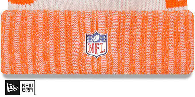 Broncos '2017 STADIUM BEANIE' Orange Knit Hat by New Era