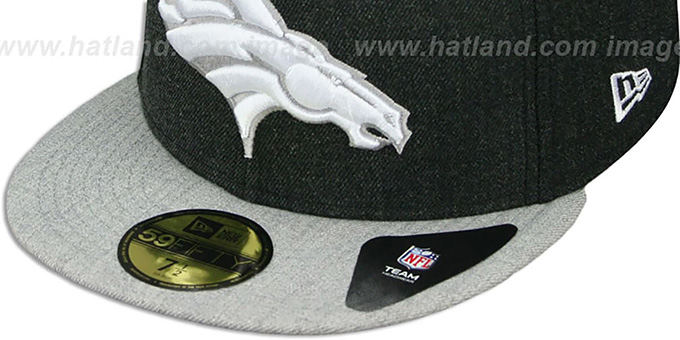 Broncos '2T-HEATHER ACTION' Charcoal-Grey Fitted Hat by New Era