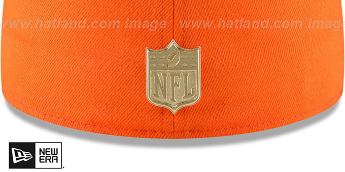 Broncos 'GOLDEN-BADGE' Orange-Navy Fitted Hat by New Era