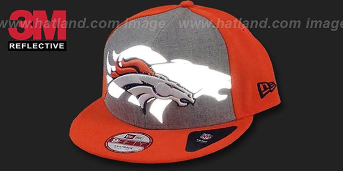 ... Broncos  HEATHER-REFLECT SNAPBACK  Grey-Orange Hat by New Era b688d9181d4