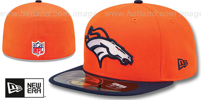 Broncos 'NFL BCA' Orange-Navy Fitted Hat by New Era