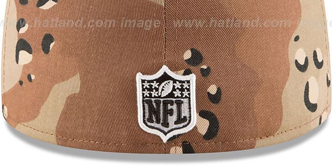 Broncos 'NFL TEAM-BASIC' Desert Storm Camo Fitted Hat by New Era