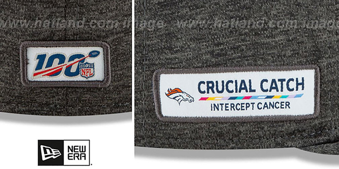 Broncos 'ONFIELD CRUCIAL CATCH' Grey Fitted Hat by New Era