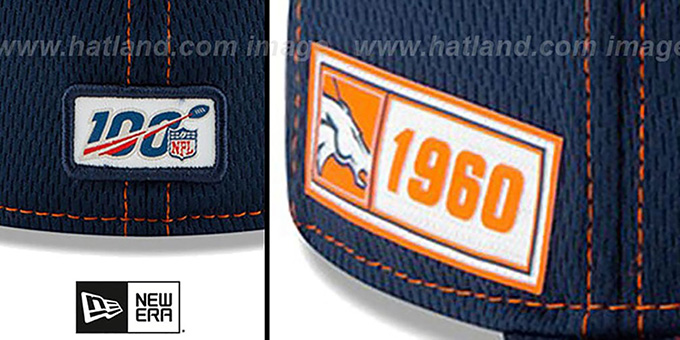 Broncos 'ONFIELD SIDELINE ROAD' Navy Fitted Hat by New Era