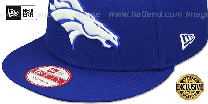 Broncos 'TEAM-BASIC SNAPBACK' Royal-White Hat by New Era