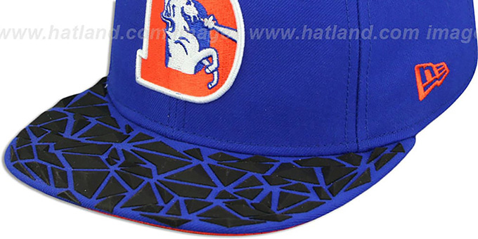 Broncos THROWBACK 'RUBBER MATTE SNAPBACK' Royal Hat by New Era