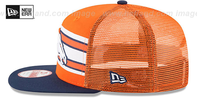 Broncos 'THROWBACK-STRIPE SNAPBACK' Orange-Navy Hat by New Era