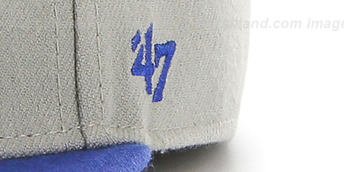 Brooklyn Dodgers 'COOP HOLE-SHOT' Grey-Royal Fitted Hat by Twins 47 Brand