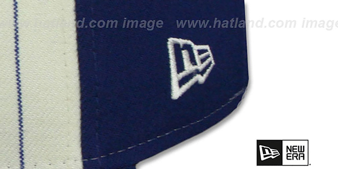 Brooklyn Dodgers 'VINTAGE-STRIPE' White-Royal Fitted Hat by New Era