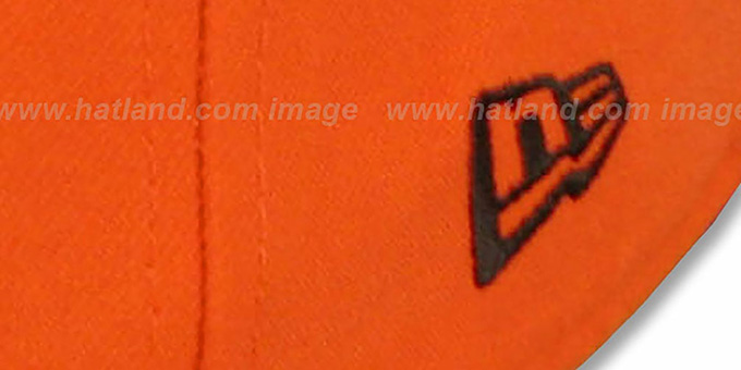 Browns 'NFL 2T-TEAM-BASIC' Orange-Brown Fitted Hat by New Era