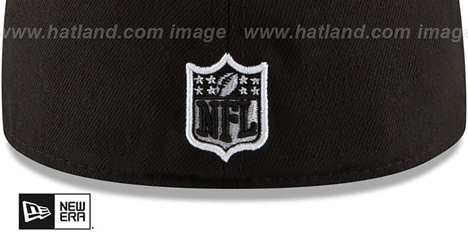 Browns 'NFL TEAM-BASIC' Black-White Fitted Hat by New Era