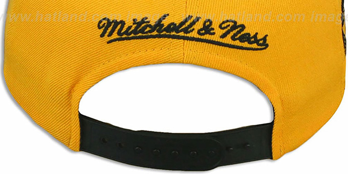 Bruins 'LASER-STITCH SNAPBACK' Gold-Black Hat by Mitchell & Ness