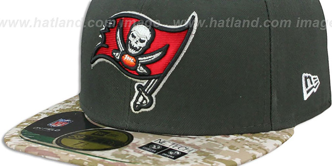 Buccaneers '2014 SALUTE-TO-SERVICE' Grey-Desert Fitted Hat by New Era