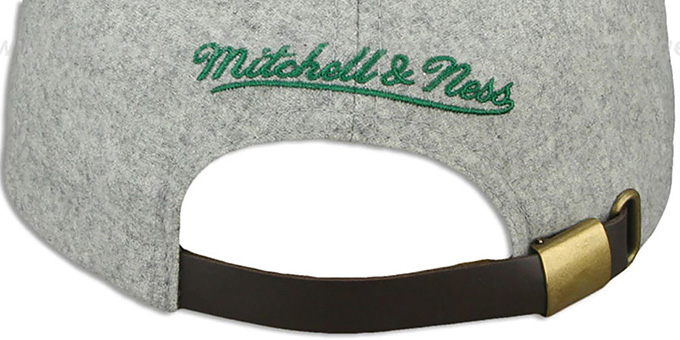 Bucks '2T TAILSWEEPER STRAPBACK' Grey-Green Hat by Mitchell & Ness