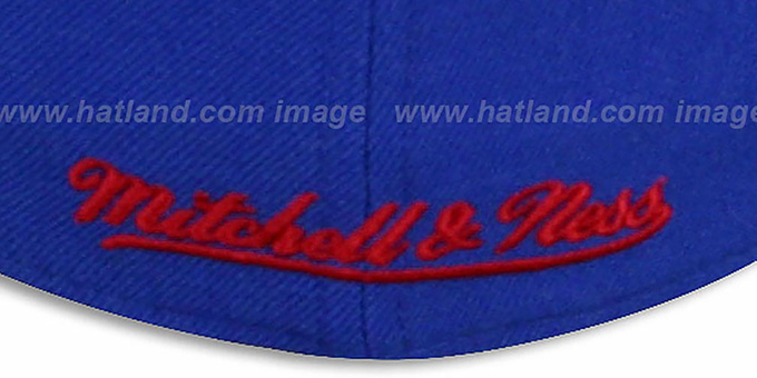 Bullets 'CLASSIC-SCRIPT' Royal Fitted Hat by Mitchell & Ness