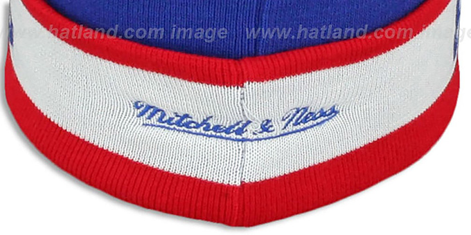 Bullets 'THE-BUTTON' Knit Beanie Hat by Michell & Ness