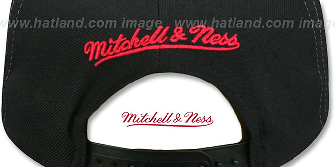 Bulls 'AJD SNAPBACK' Black-Red Adjustable Hat by Mitchell and Ness