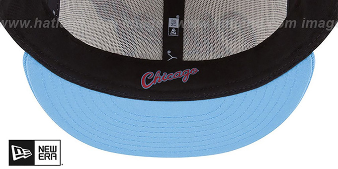 Bulls 'CITY-SERIES' White-Sky Fitted Hat by New Era
