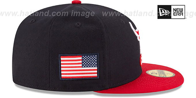 Bulls 'COUNTRY COLORS' Navy-Red Fitted Hat by New Era