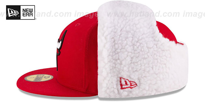Bulls 'FLURRY-FIT DOGEAR' Red Fitted Hat by New Era