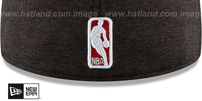 Bulls 'HEATHER-HUGE' Black-Red Fitted Hat by New Era