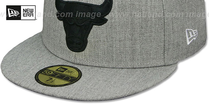 Bulls 'HEATHER-POP' Light Grey Fitted Hat by New Era