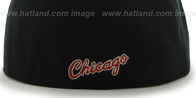 Bulls 'HWC CATERPILLAR' Black Fitted Hat by 47 Brand