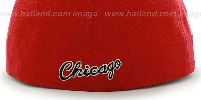 Bulls 'HWC CATERPILLAR' Red Fitted Hat by 47 Brand