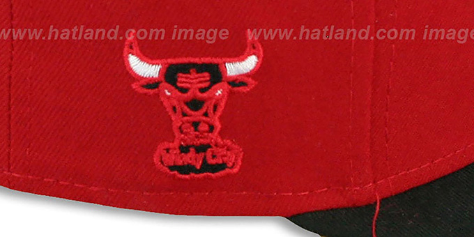 Bulls 'HWC-TIGHT' Red-Black Fitted Hat by New Era