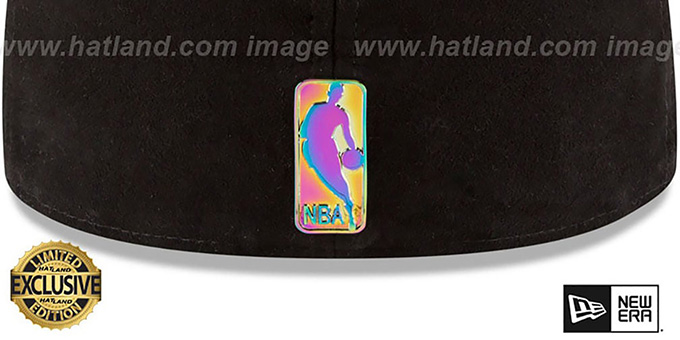 Bulls 'SUEDED IRIDESCENT METAL-BADGE' Black Fitted Hat by New Era