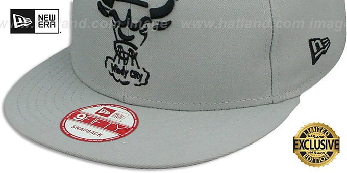 Bulls 'TEAM-BASIC TRACE SNAPBACK' Grey-Black Hat by New Era