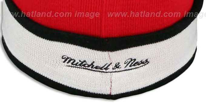 Bulls 'THE-BUTTON' Knit Beanie Hat by Michell & Ness