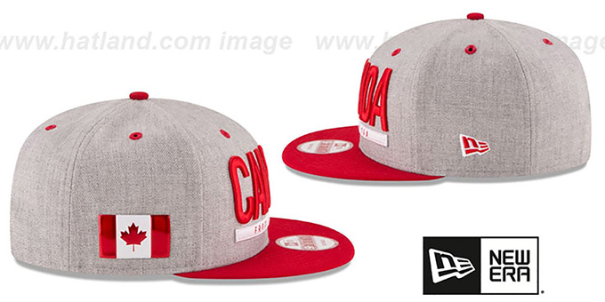 Canada 'FLAG PHRASE SNAPBACK' Grey-Red Hat by New Era