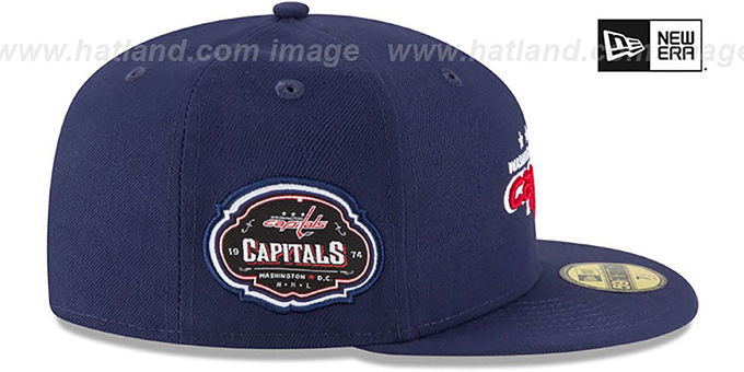 Capitals 'TEAM-SUPERB' Navy Fitted Hat by New Era