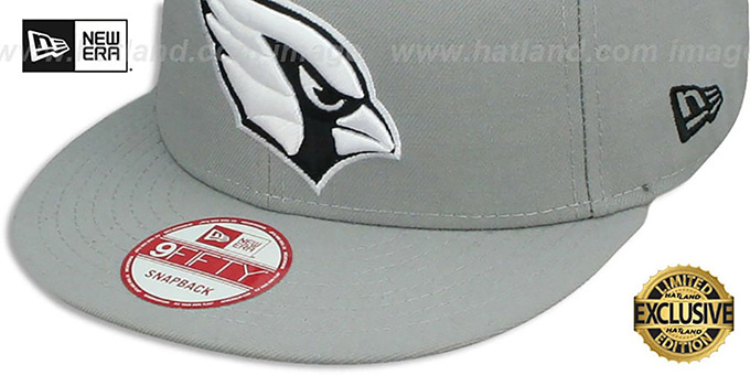 Cardinals 'NFL TEAM-BASIC SNAPBACK' Grey-Black Hat by New Era