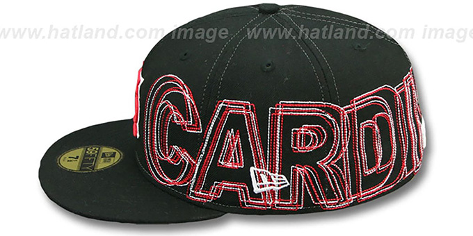 Cardinals 'WORD-WRAP' Black Fitted Hat by New Era