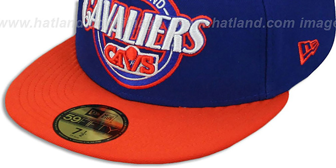 Cavaliers 'CIRCLE-CLOSER' Royal-Orange Fitted Hat by New Era