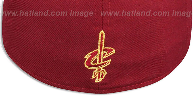 Cavaliers 'LEBRON JAMES 23' Burgundy Fitted Hat by New Era