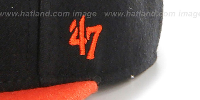 Cavaliers 'NO-SHOT SNAPBACK' Black-Orange Hat by Twins 47 Brand