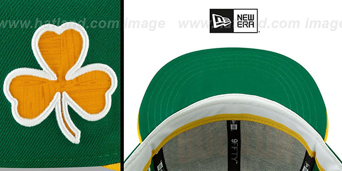 Celtics '18-19 CITY-SERIES SNAPBACK' Green-Gold Hat by New Era