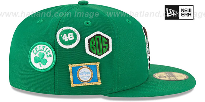 e7b60606 Boston Celtics 2018 NBA DRAFT Green Fitted Hat by New Era