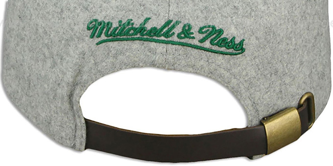 Celtics '2T TAILSWEEPER STRAPBACK' Grey-Green Hat by Mitchell & Ness
