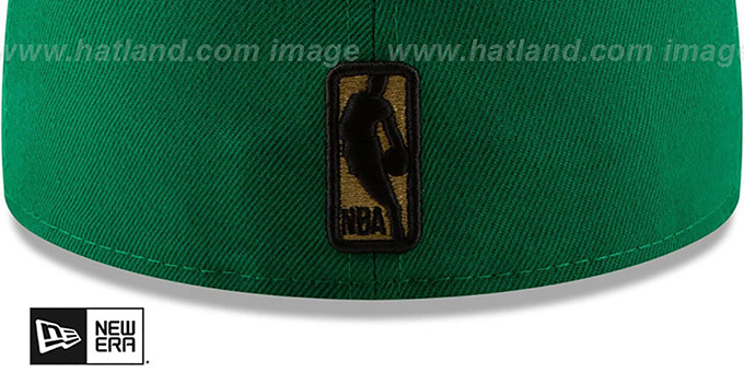 Celtics 'GOLD METALLIC STOPPER' Green Fitted Hat by New Era