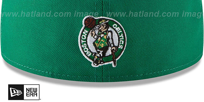 Celtics 'GOLD STATED METAL-BADGE' Green Fitted Hat by New Era