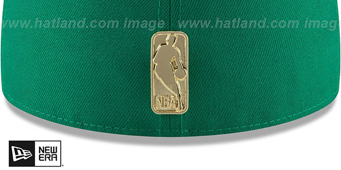 Celtics 'GOLDEN-BADGE' Green-Black Fitted Hat by New Era