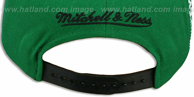 Celtics 'LASER-STITCH SNAPBACK' Green-Black Hat by Mitchell and Ness