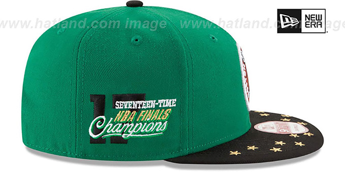 Celtics 'NBA STAR-TRIM SNAPBACK' Green-Black Hat by New Era