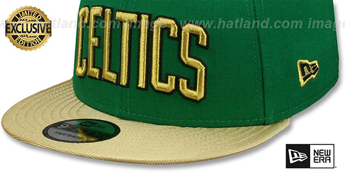 Celtics 'SWINGMAN SNAPBACK' Green-Gold Hat by New Era